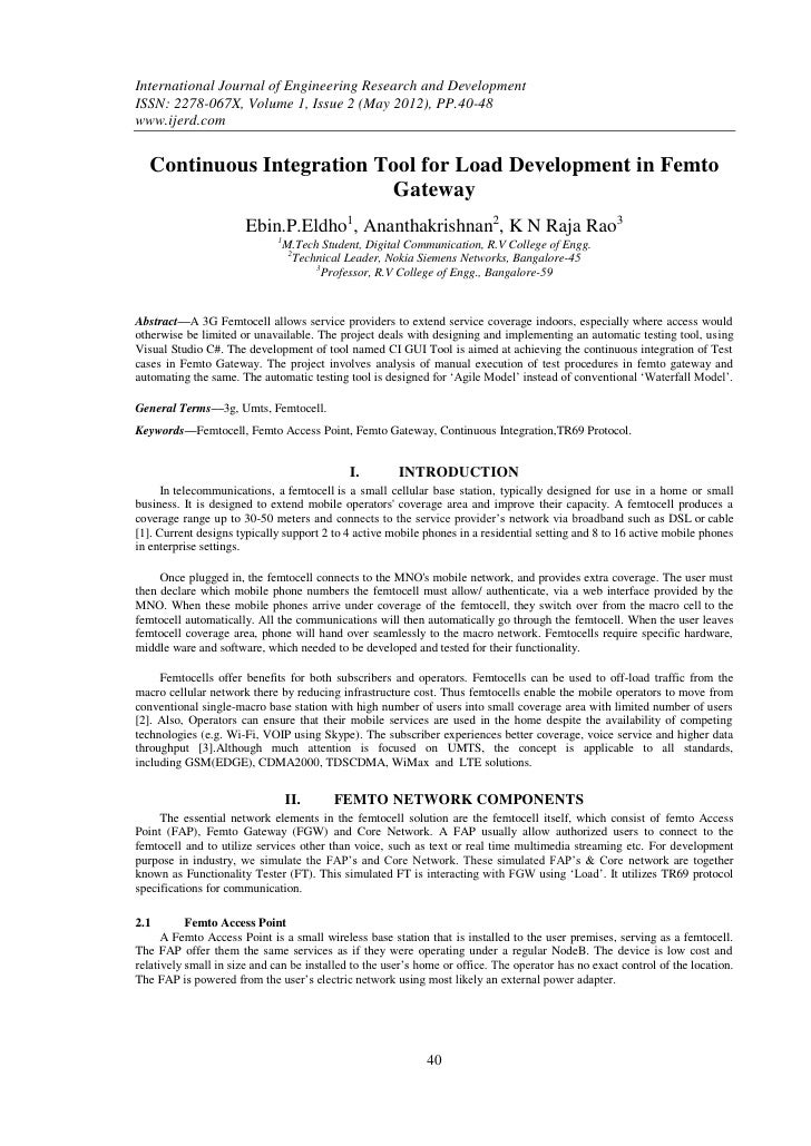 International Journal of Engineering Research and DevelopmentISSN: 2278-067X, Volume 1, Issue 2 (May 2012), PP.40-48www.ij...