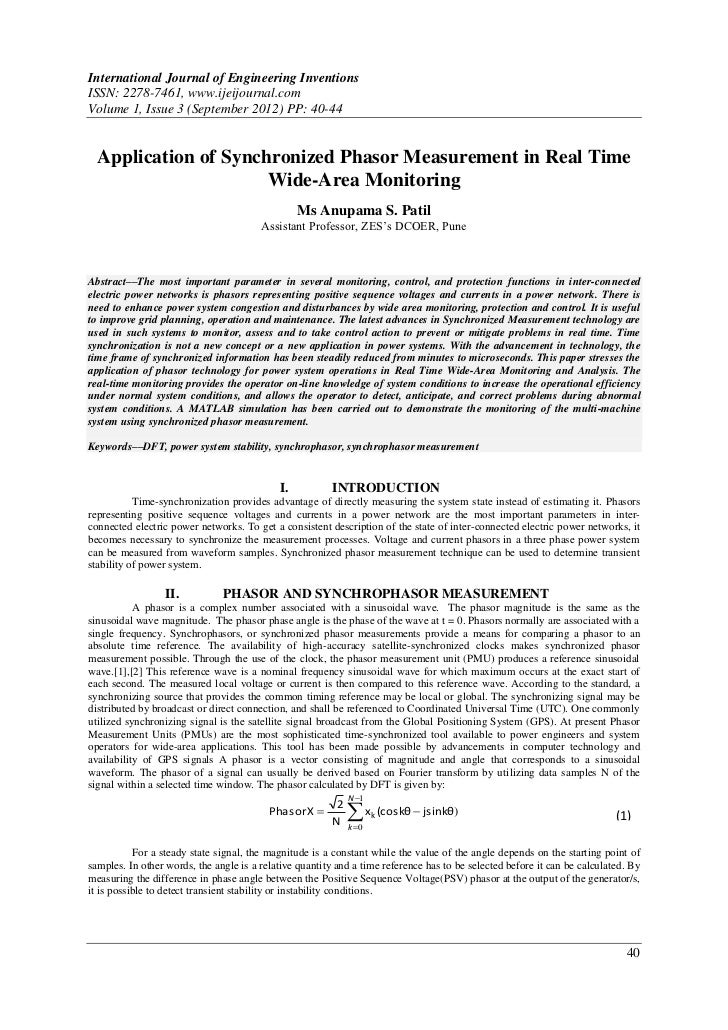 International Journal of Engineering InventionsISSN: 2278-7461, www.ijeijournal.comVolume 1, Issue 3 (September 2012) PP: ...