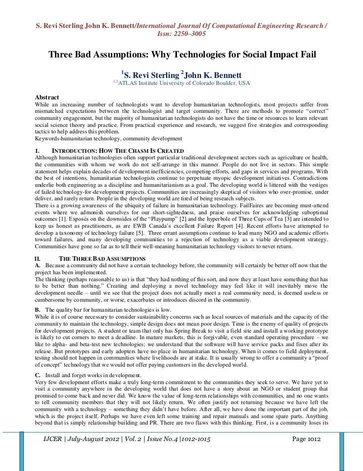 S. Revi Sterling John K. Bennett/International Journal Of Computational Engineering Research /                            ...