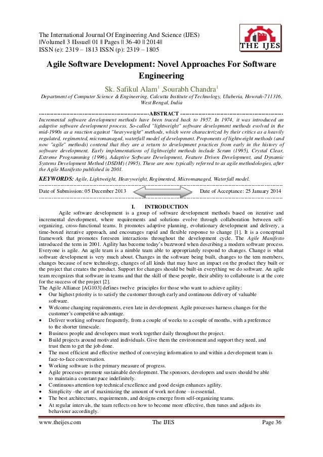 The International Journal Of Engineering And Science (IJES) ||Volume|| 3 ||Issue|| 01 || Pages || 36-40 || 2014|| ISSN (e)...