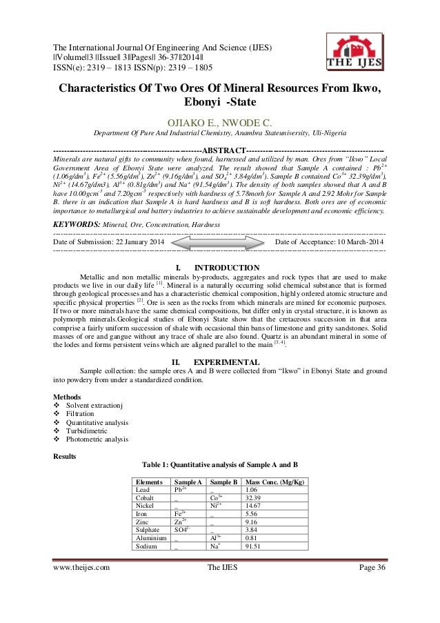 The International Journal Of Engineering And Science (IJES) ||Volume||3 ||Issue|| 3||Pages|| 36-37||2014|| ISSN(e): 2319 –...