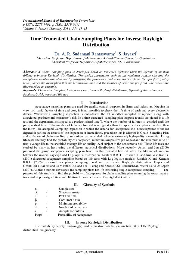 International Journal of Engineering Inventions e-ISSN: 2278-7461, p-ISSN: 2319-6491 Volume 3, Issue 6 (January 2014) PP: ...