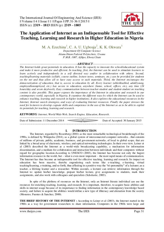 Research in higher education journal