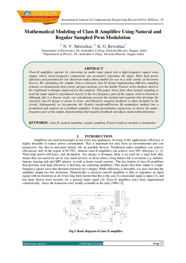 International Journal of Computational Engineering Research  Vol, 04  Issue, 3     Issn 2250-3005      February  2014   Pa...