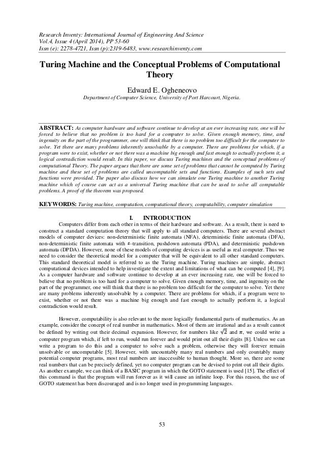 Research Inventy: International Journal of Engineering And Science Vol.4, Issue 4 (April 2014), PP 53-60 Issn (e): 2278-47...