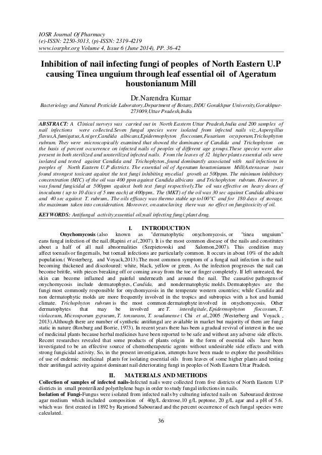 IOSR Journal Of Pharmacy (e)-ISSN: 2250-3013, (p)-ISSN: 2319-4219 www.iosrphr.org Volume 4, Issue 6 (June 2014), PP. 36-42...