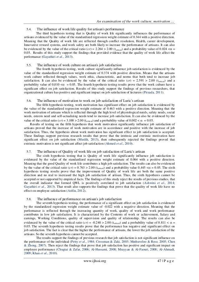 Dissertation quality work life - Scribd