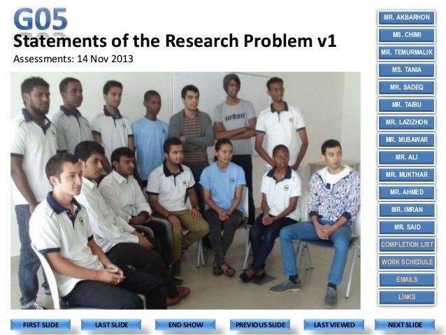 G05 Problem Statements 14 Nov 2013.ppt