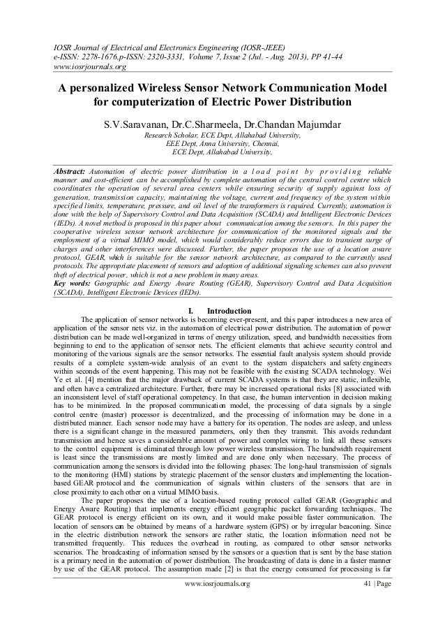 IOSR Journal of Electrical and Electronics Engineering (IOSR-JEEE) e-ISSN: 2278-1676,p-ISSN: 2320-3331, Volume 7, Issue 2 ...