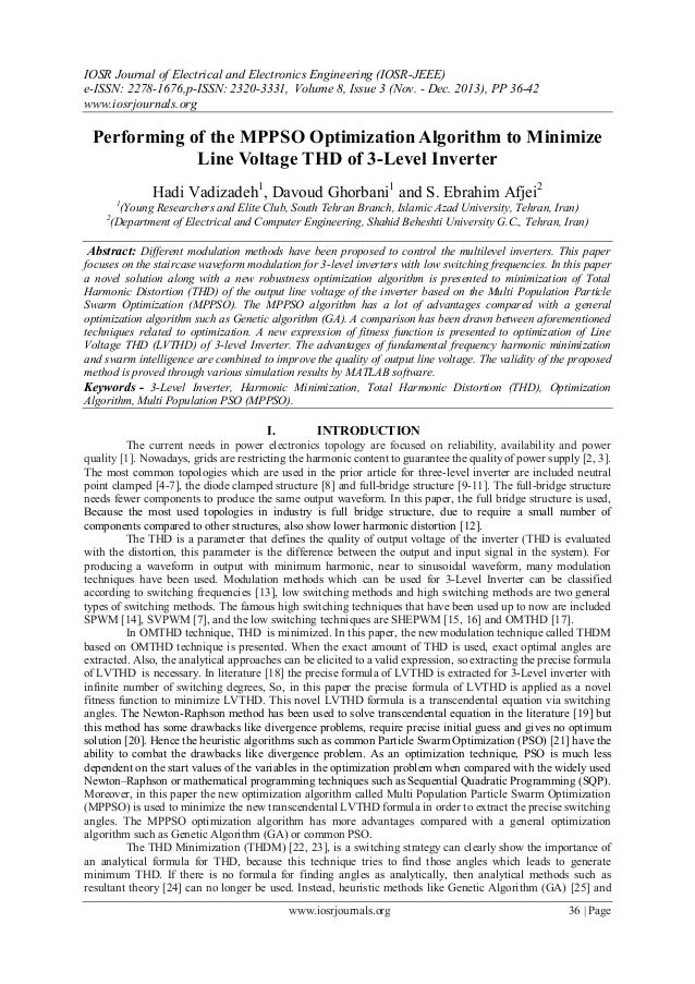 IOSR Journal of Electrical and Electronics Engineering (IOSR-JEEE) e-ISSN: 2278-1676,p-ISSN: 2320-3331, Volume 8, Issue 3 ...