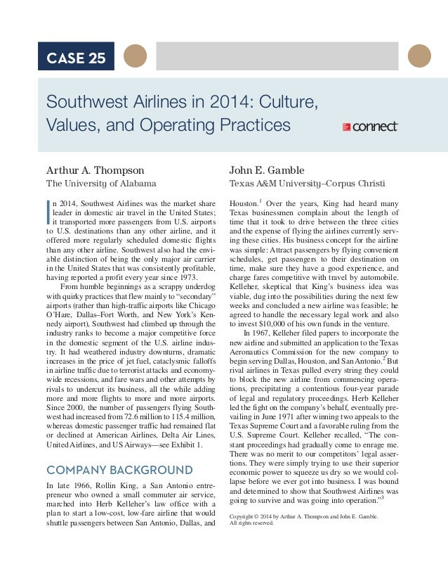 introduction of southwest airline essay