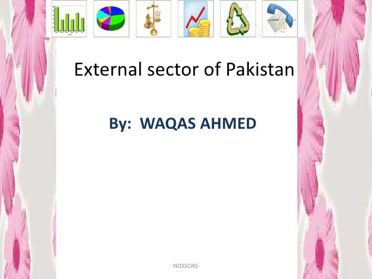External sector of Pakistan      By: WAQAS AHMED                -NOSSCIRE-