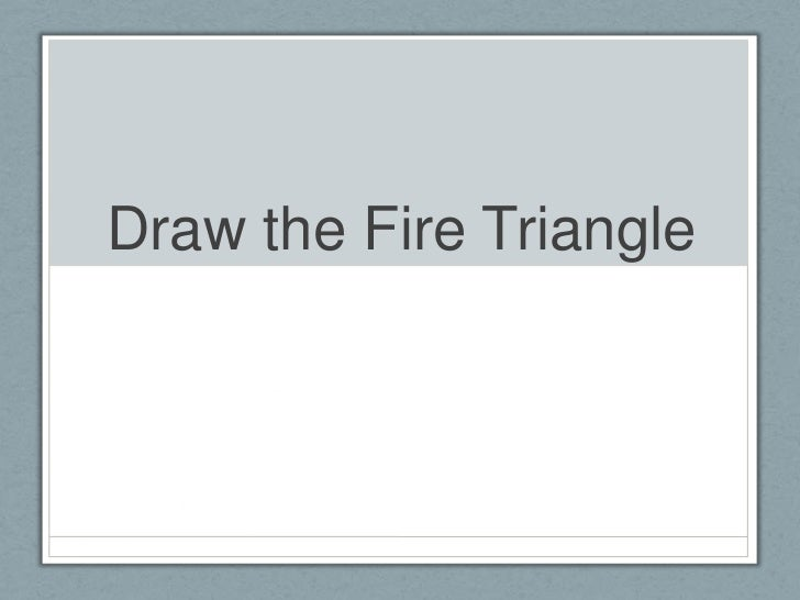 Draw the Fire Triangle