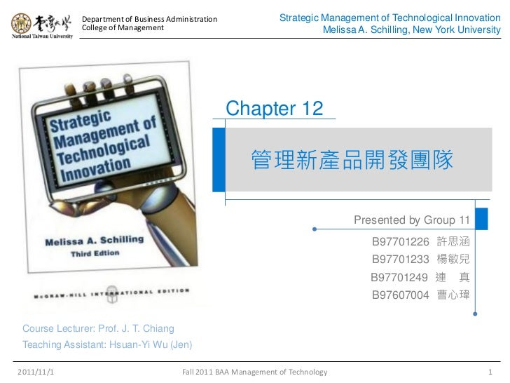 Department of Business Administration               Strategic Management of Technological Innovation              College ...