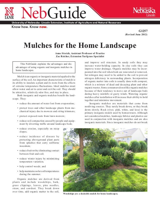 Mulches for the Home Landscape - University of Nebraska