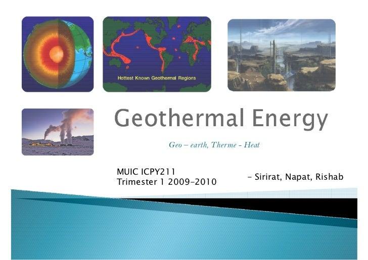 Geothermal Energy (student preso)
