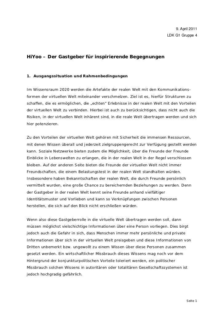 9. April 2011                                                                           LDK G1 Gruppe 4HiYoo – Der Gastgeb...