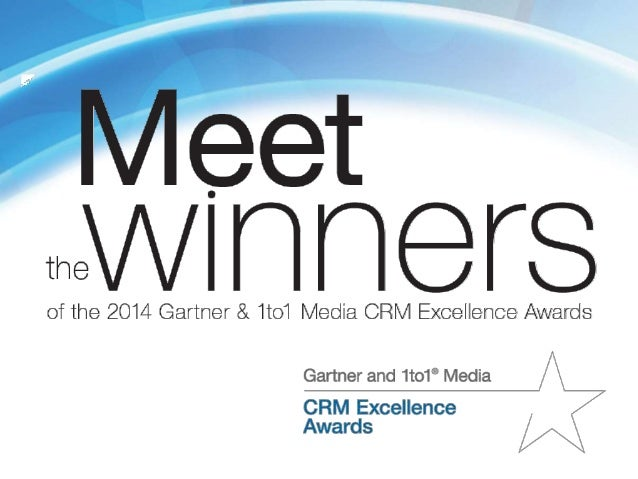 The Gartner & 1to1 Media CRM Excellence Awards are given to end-user organizations that have implemented successful custom...