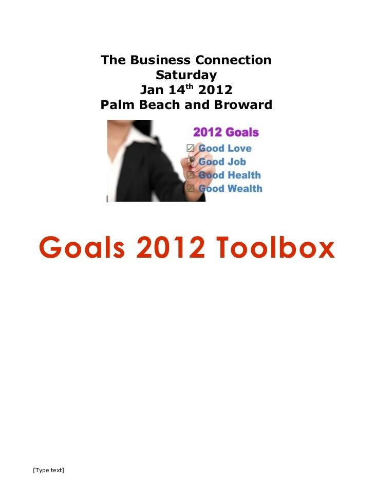 2012 goals toolbox