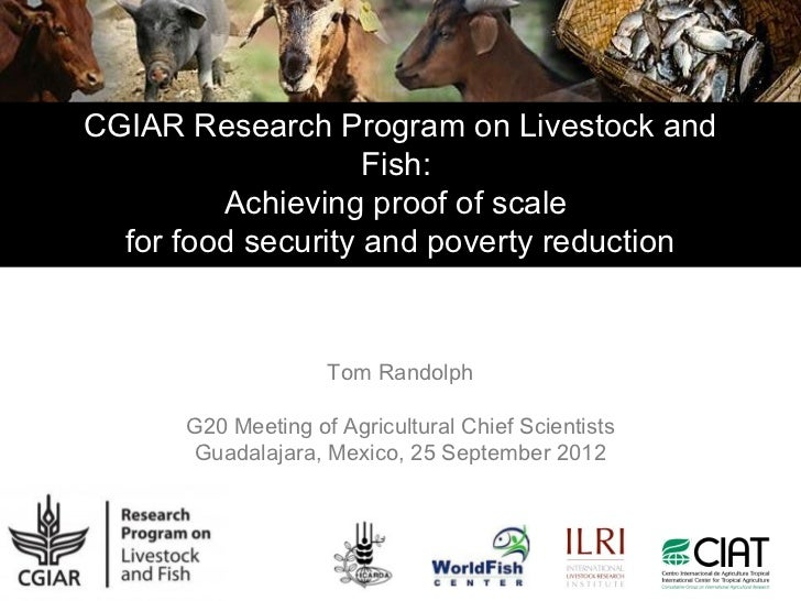 CGIAR Research Program on Livestock and                    Fish:         Achieving proof of scale  for food security and p...