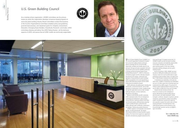 U.S. Green Building Council Building America                                         As a member-driven organization, USGB...
