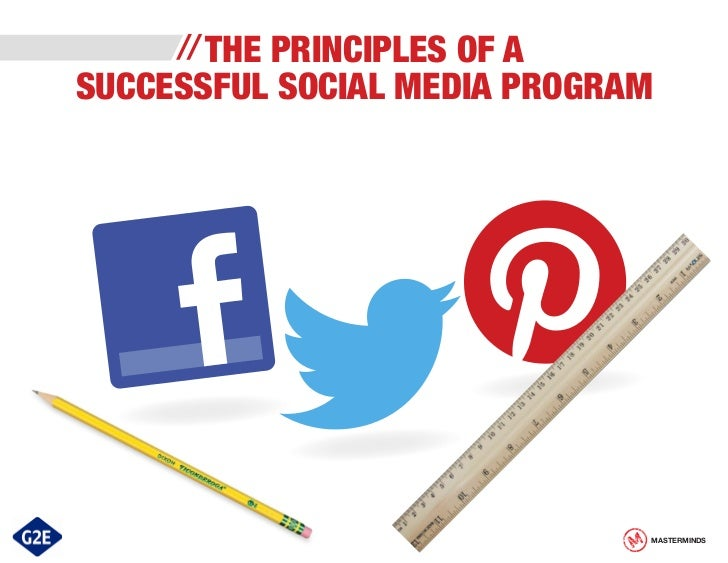 THE PRINCIPLES OF ASUCCESSFUL SOCIAL MEDIA PROGRAM                              MASTERMINDS