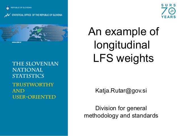 K. Rutar - An example of longitudinal LFS weights