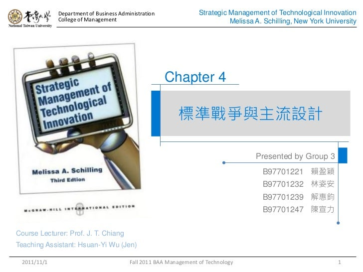 Department of Business Administration               Strategic Management of Technological Innovation             College o...