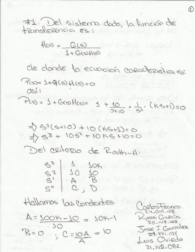 Estabilidad de los sistemas lineales realimentados. Grupo3