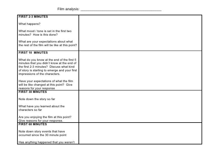 G321 film analysis worksheet