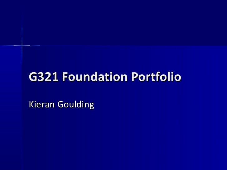 G321 foundation portfolio