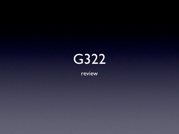 G322review