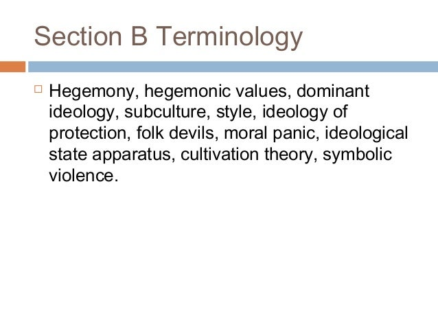 Examples List on Dominant Ideology