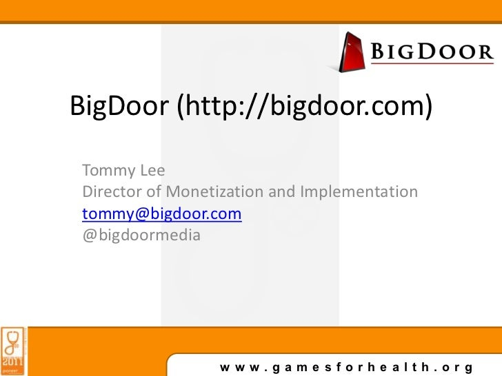 BigDoor Gamification at Games For Health