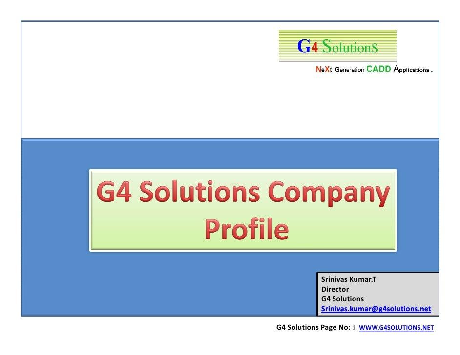 Srinivas Kumar.T             Director             G4 Solutions             Srinivas.kumar@g4solutions.net  G4 Solutions Pa...