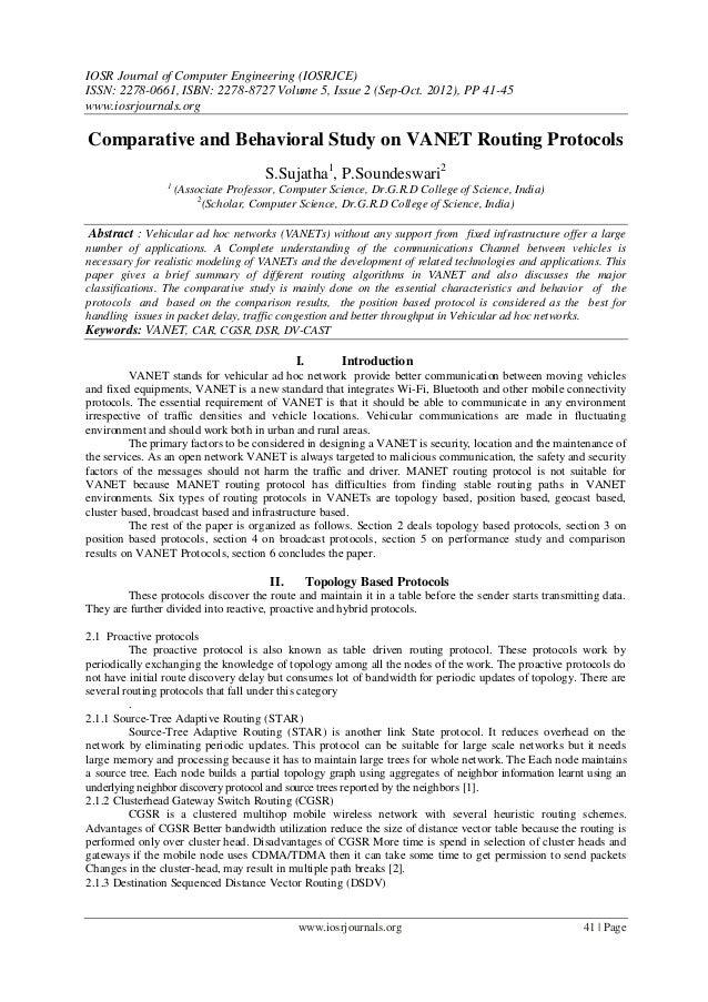 IOSR Journal of Computer Engineering (IOSRJCE) ISSN: 2278-0661, ISBN: 2278-8727 Volume 5, Issue 2 (Sep-Oct. 2012), PP 41-4...
