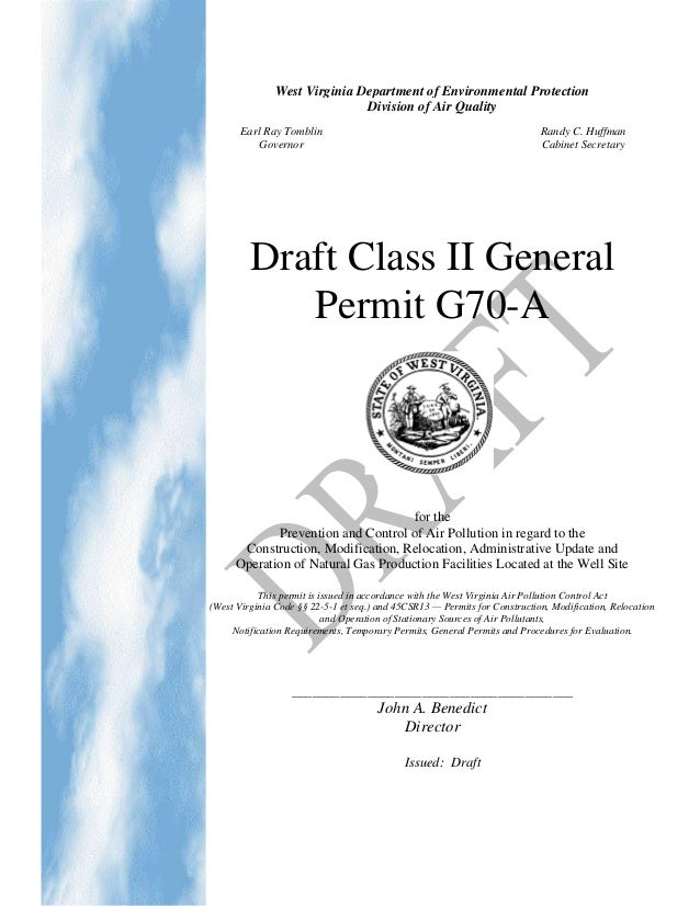 WV New Air Pollution Regulations for Oil & Gas Drilling