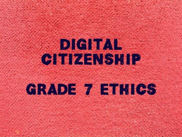 G7 Digital Citizenship - Organization