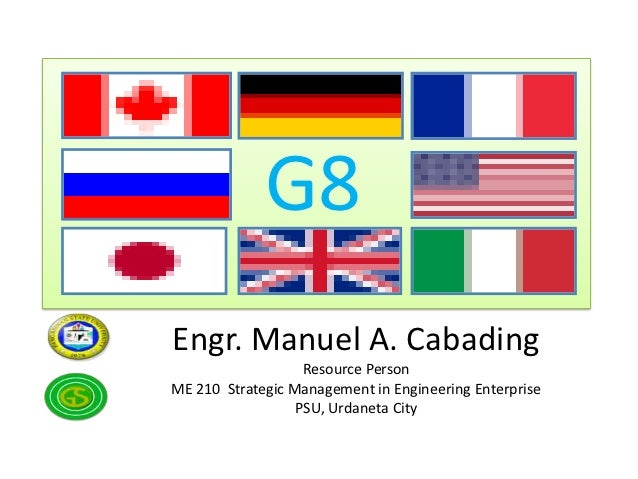 G8Engr. Manuel A. Cabading                   Resource PersonME 210 Strategic Management in Engineering Enterprise         ...