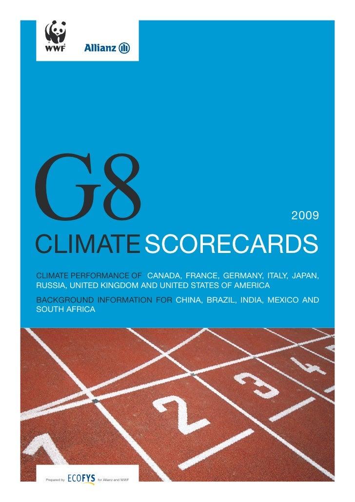 G8 Climate Scorecards