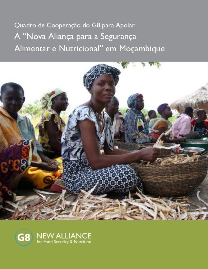 """Quadro de Cooperação do G8 para ApoiarA """"Nova Aliança para a SegurançaAlimentar e Nutricional"""" em Moçambique"""