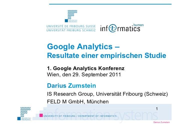 GA-Konferenz-2011 Darius Zumstein_Webanalyse: Resultate einer empirischen Studie