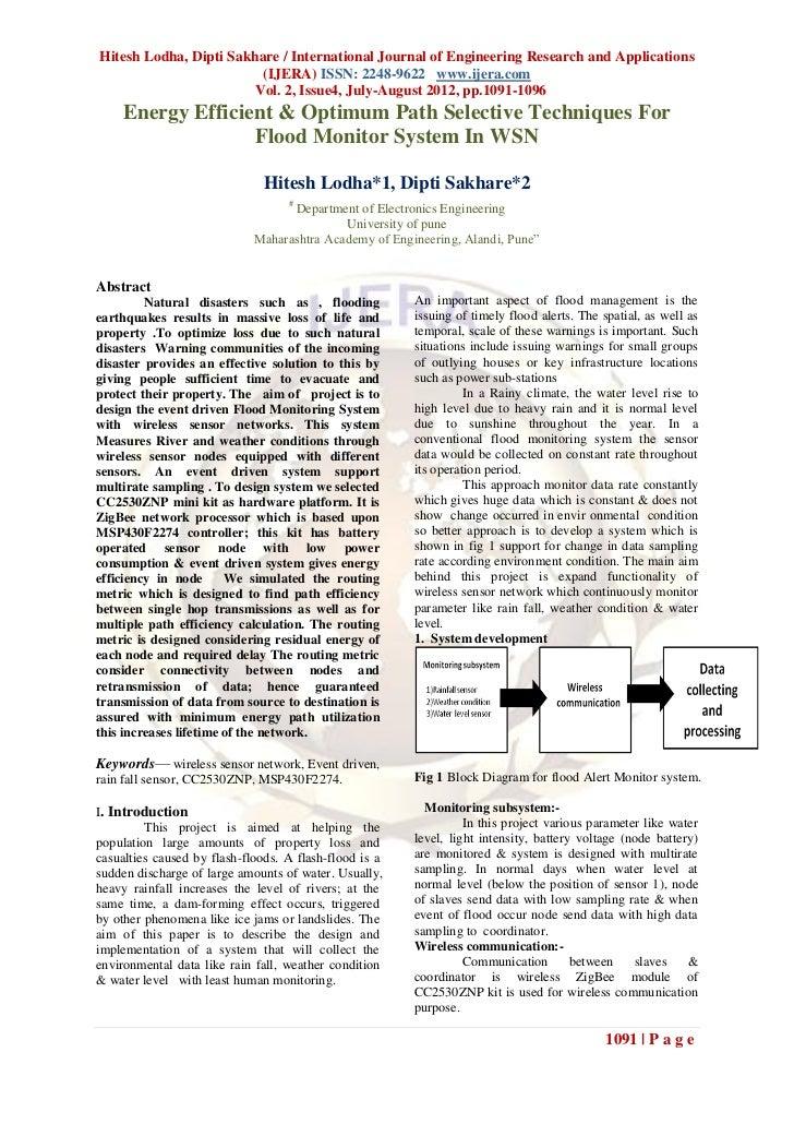 Hitesh Lodha, Dipti Sakhare / International Journal of Engineering Research and Applications                         (IJER...