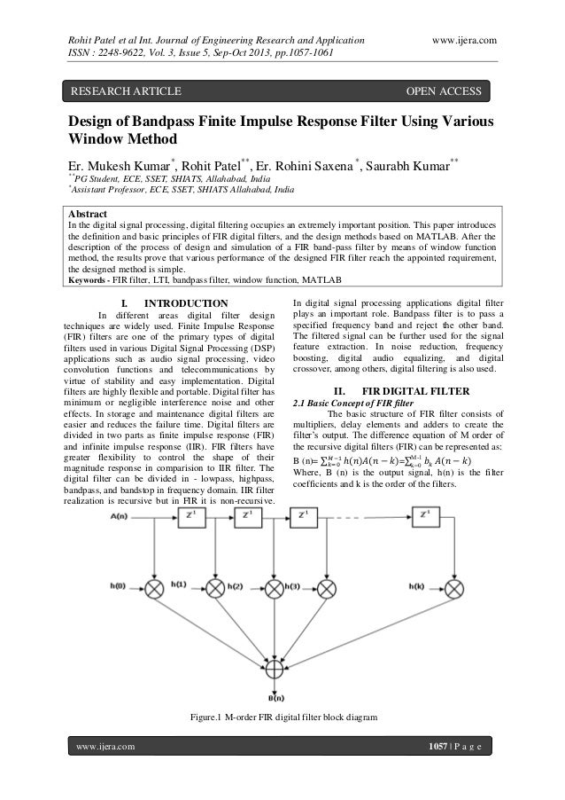Rohit Patel et al Int. Journal of Engineering Research and Application ISSN : 2248-9622, Vol. 3, Issue 5, Sep-Oct 2013, pp...