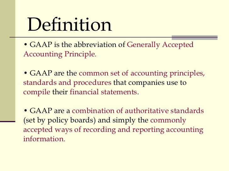 Comparison Of Accounting Standards