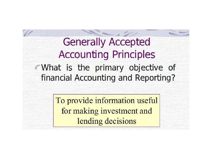 Purpose of GAAP financial statements