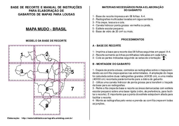 BASE DE RECORTE E MANUAL DE INSTRUÇÕES                                 MATERIAIS NECESSÁRIOS PARA A ELABORAÇÃO            ...