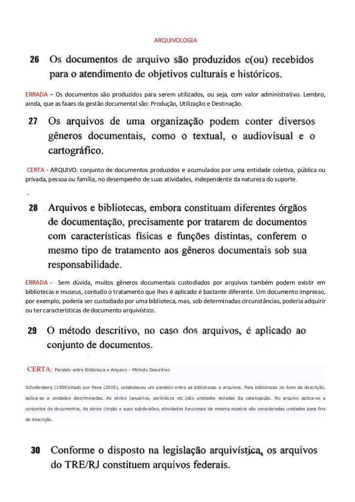 Gabarito Arquivologia, Recursos Materiais e Adm. TRE-RJ
