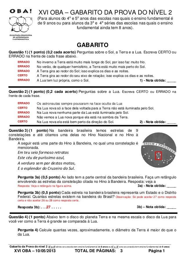 Gabarito prova nivel_2_da_xvi_oba_de_2013