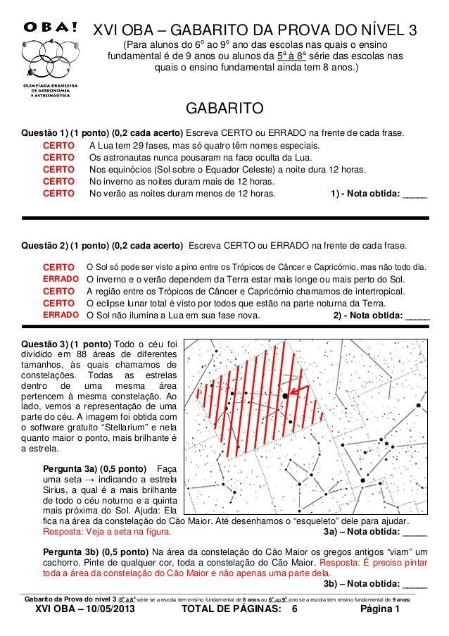 Gabarito prova nivel_3_da_xvi_oba _de_2013